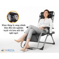 Ghế gấp thư giãn mẫu mới 2021 khóa nhôm Nikita - NIKA139A