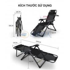 Giường gấp, ghế gấp thư giãn mẫu mới 2021 Nikita NKT-2036